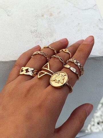 مجموعة خاتم جوفاء سبيكة