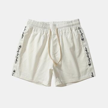 Side White Line Board Shorts