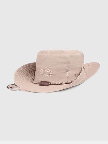 Men Wide Brim Outdoor Fishing Adjustable Bucket Hat