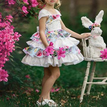 Flower Girls Tutu Vestido para 1-7 años