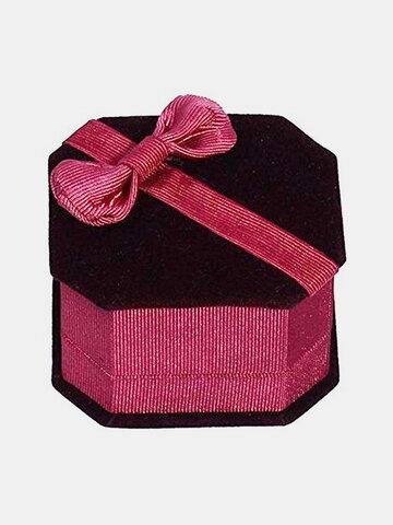 Velvet Bow Jewelry Packaging Box