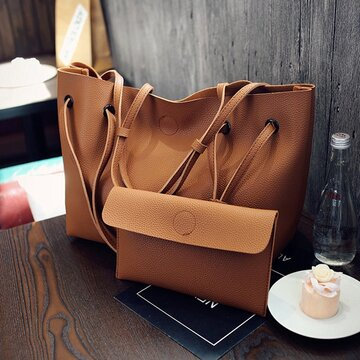 Women Large Capacity 2Pcs Handbags