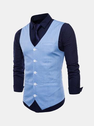 Formal Pure Color Vest