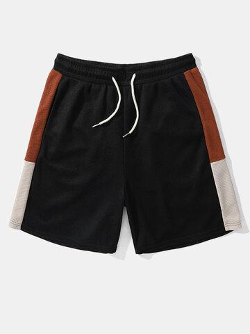 Knitted Casual Drawstring Shorts
