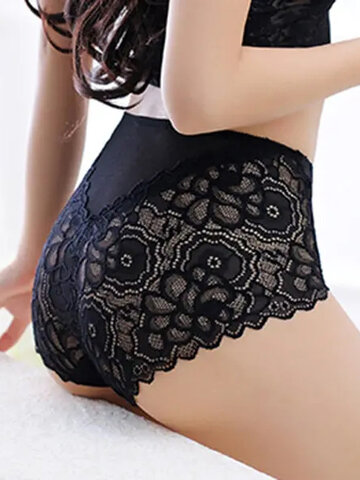 Lace Body-shaping Seamless Embroidery Panties