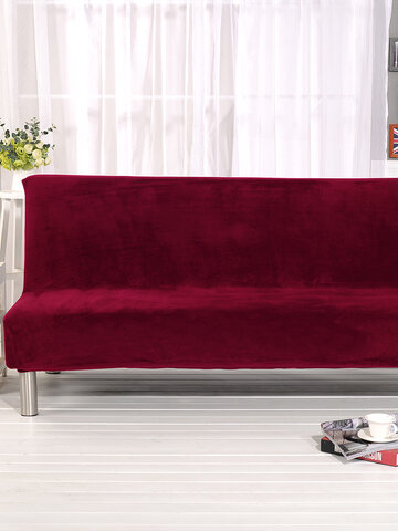 Soft Stretchy Silky Thicken Sofa Cover Elastic Full Cover Without Armrest Folding Sofa Bed Cover Sofa Cushion