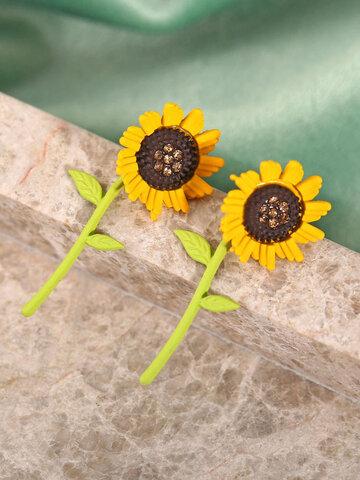 Alloy Floral Earrings
