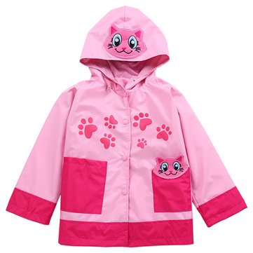 Waterproof Girls Trench Coat For 2Y-9Y