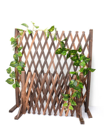 <US Instock>Expanding Portable Fence Wooden Screen Gate Pet Dog Patio Garden Lawn Barrier