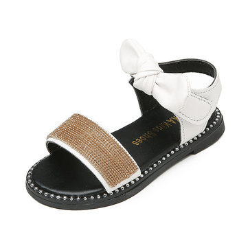 Girls Beading Bowknot Lovely Daily Sandals