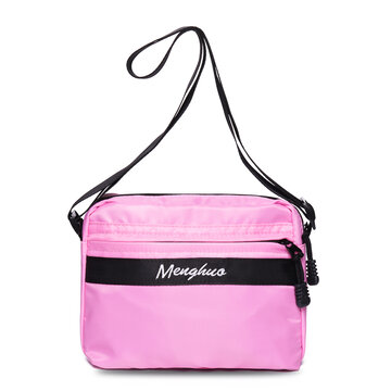 Women Nylon Light Candy Color Small Crossbody Bag