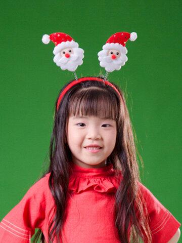 Christmas Snowman Head Santa Claus Headband Hair Hoop Christmas Decorations