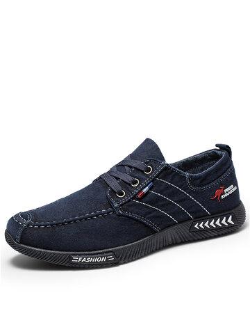 Men Canvas Non Slip Casual Shoes