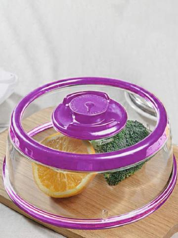 Vacuum Food Sealer Press Type Food Preservation Cover Transparent Vacuum High Temperature Resistant Microwave Heating Bowl