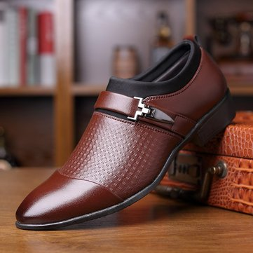 Large Size Men Stylish Cap Toe Dress Shoes