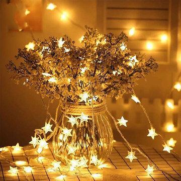 Cinco pontas Star LED String Fairy Lights
