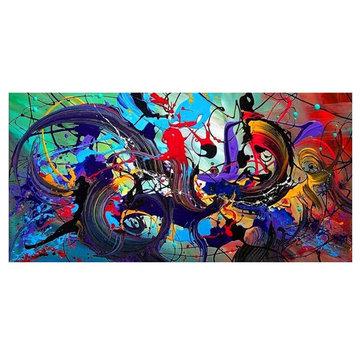 Abstraktes Buntes Segeltuch-hängende Malereien-Ausgangsdekor-Wand-Kunst