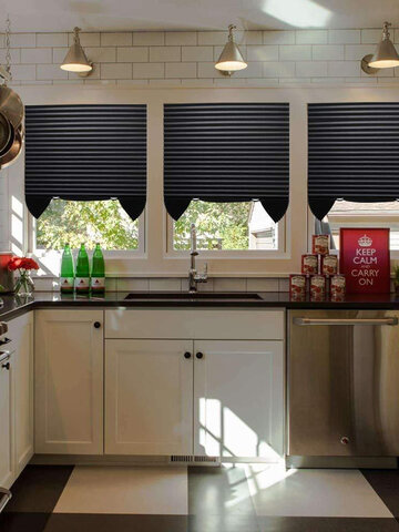 1Pc Pleated Curtain Cordless Light Filtering Pleated Fabric Blind Shade Light Easy To Cut And Install