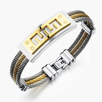 Stainless Steel Bangle Bracelet for Men