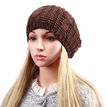 Braided  Knitted Crochet Hat