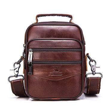 Men Genuine Leather Bag Business Messenger Bag