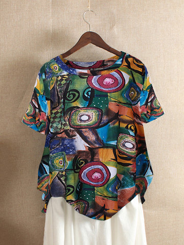 Ethnic Print Summer T-shirt