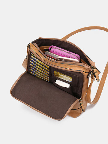 Mandy Multifunction Bag Solid Casual Crossbody Bag