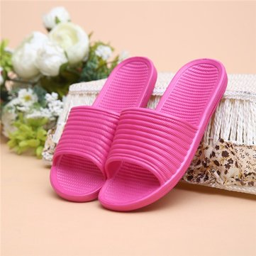Candy Color Indoor Home Flat Slip On Open Toe Chaussons pour femmes