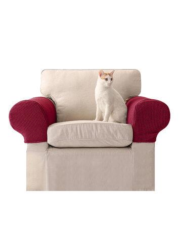 2 قطعة غطاء مسند ذراع مرن حريري عالمي منشفة مانعة للانزلاق محبوكة مفرد وغطاء أريكة سميك مزدوج