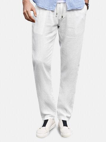 Mens 100% Cotton Yoga Pants