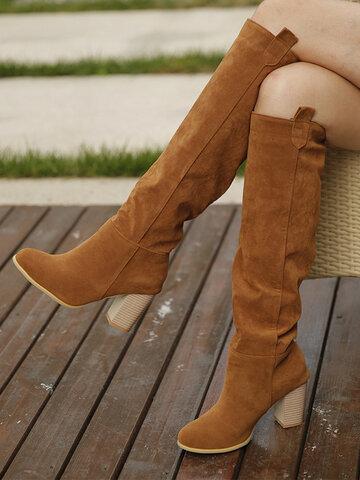 Casual Slip On Elegant Knee High Boots