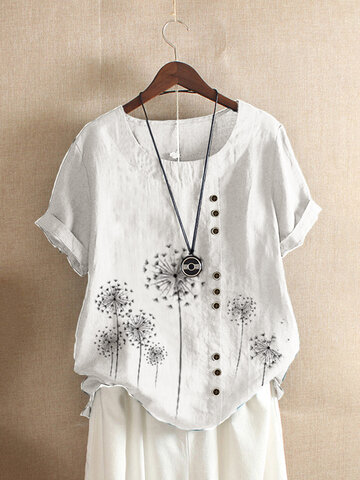 Floral Printed Short Sleeve T-shirt