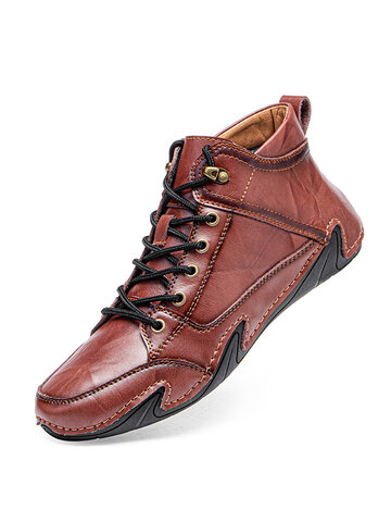 Men Hand Stitching Ankle Boots