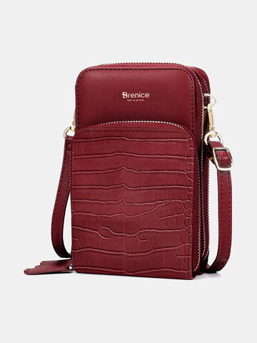 Faux Leather Phone Bag