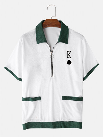 Poker Embroidered Towelling Golf Shirts