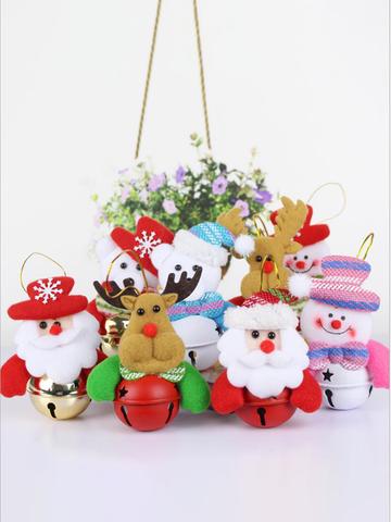 8pcs Multi-type Jingle Bell Christmas Tree Decoration