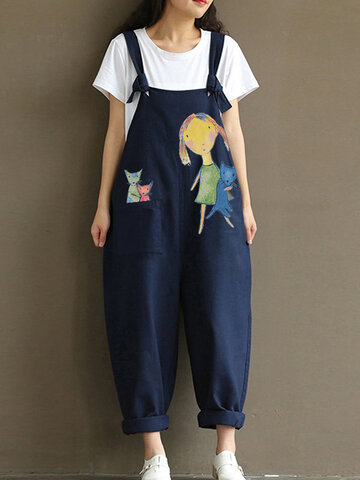 Druck-Cartoon-Baumwolle Jumpsuit