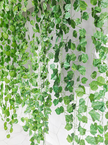 2m Simulation Plant Wall Hanging Plastic Fake Artificial Plant Green Vines Rattans Garland Garden Home Wall Hotel Wedding Party Decor