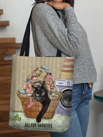 Cat Sock Clothes Pattern Tote