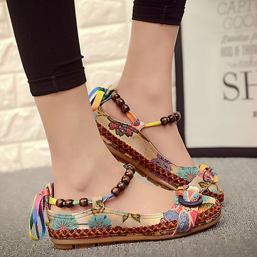 Bead Chain Butterflyknot Flat Shoes
