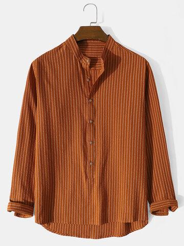 Striped Henley Shirts