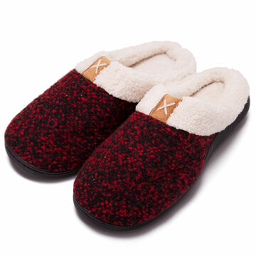 Mens Comfy Warm Casual Plush Lining Slippers