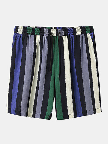 Colorful Shorts con stampa a righe