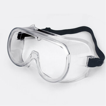 Unisex Anti-fog Splash Goggles Transparent Glasses