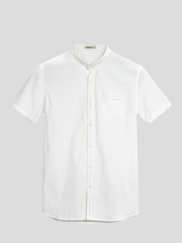 Cotton Short Sleeve Business Casual Fashion, White black red