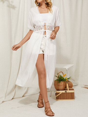 Lace Hollow Cover Up Dress