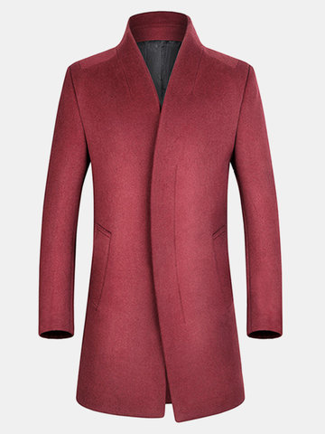 Wool Business Casual Overcoat
