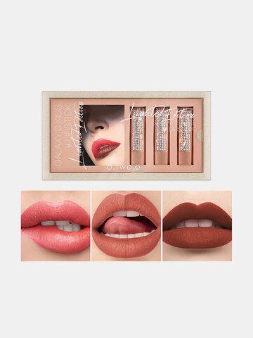 3 Pcs Matte Lipstick Set