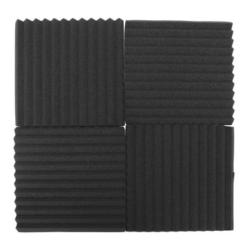 12Pack Soundproofing Acoustic Studio Wedge Foam Tiles Wall Panels Clean Sponge Home Helper
