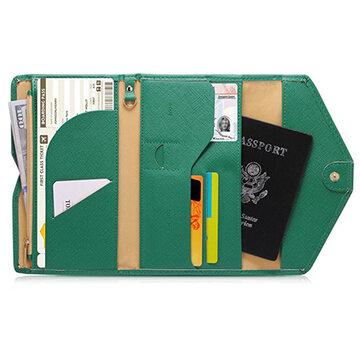 Women PU Leather Passport Bag Daily Use Purse Card Holder